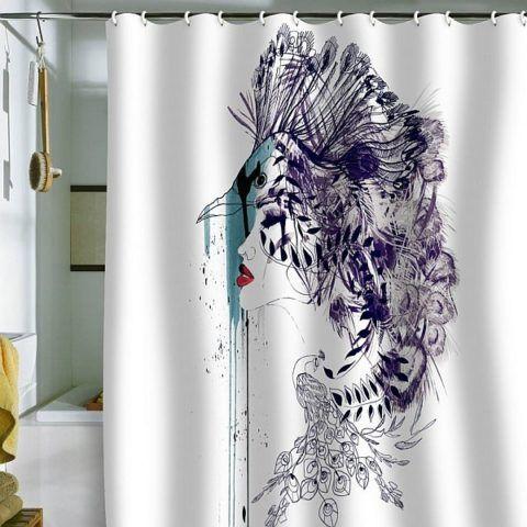 Занавеска для ванны с оригинальным рисунком