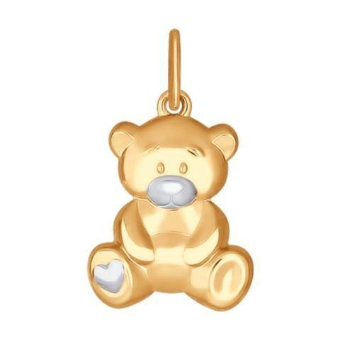 Золотой кулон «медвежонок»