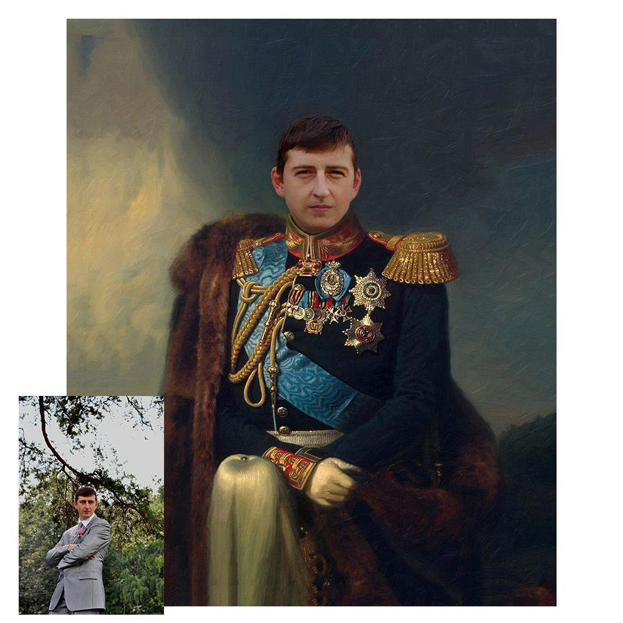 Портрет мужа по фотографии