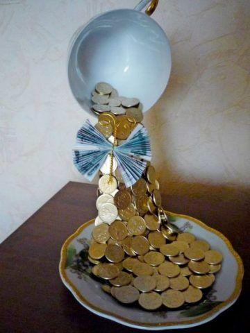 Чашка – денежный водопад.