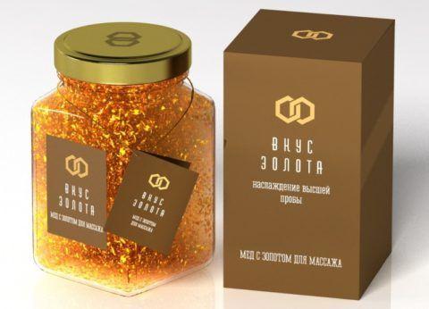 Мед с золотом для массажа