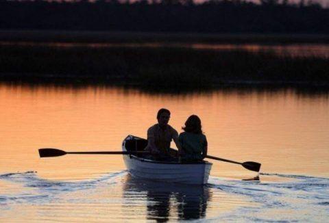 Пара в лодке