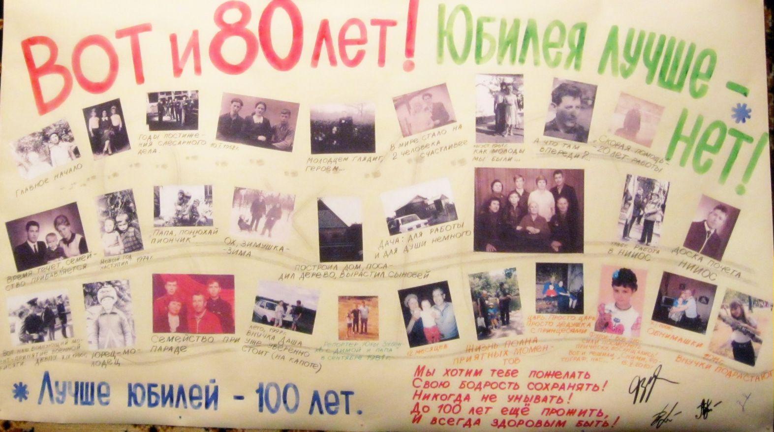 Плакат своими руками на юбилей 70 лет женщине 7