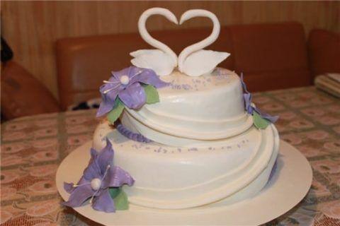 Пример украшения торта.