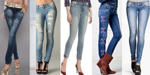 Разные варианты джинсов