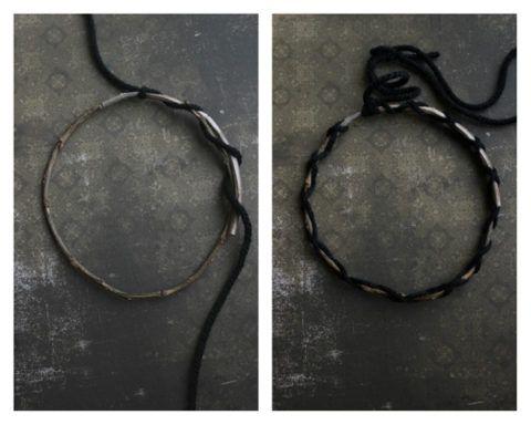 Шаг 1- обматываем кольцо