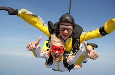 Совместный прыжок с парашютом!