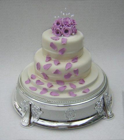 Украшение торта на оловянную свадьбу.