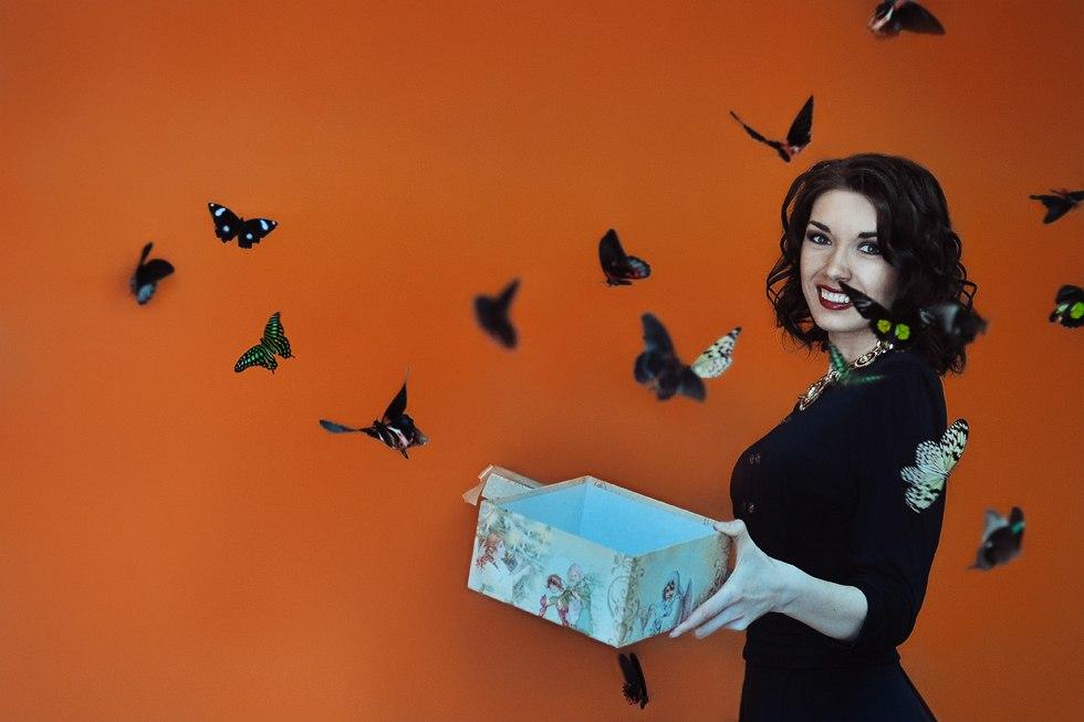 Бабочки из коробки
