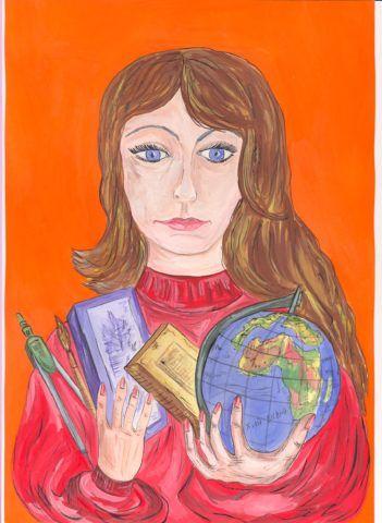 Нарисуйте портрет любимой учительницы.