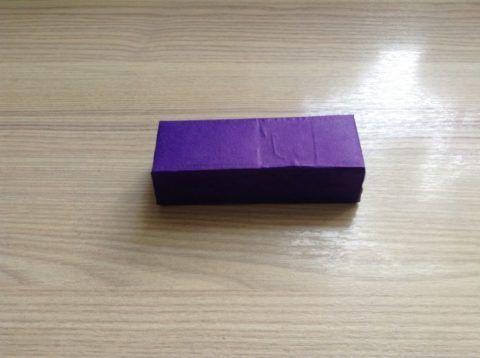 Оклеиваем блок из четырёх коробок.