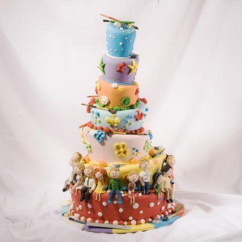 Оригинальный торт на выпуск в детсаду.