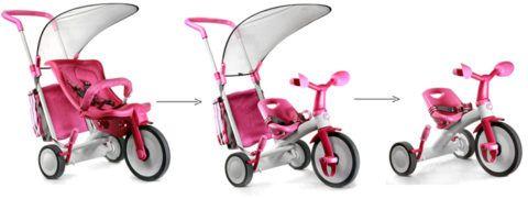 От коляски до велосипеда.