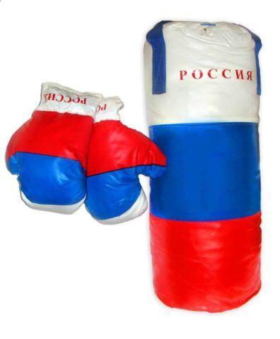 Перчатки и груша для юного боксёра.