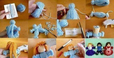 Пошаговый мастер – класс изготовления кукол из ниток.