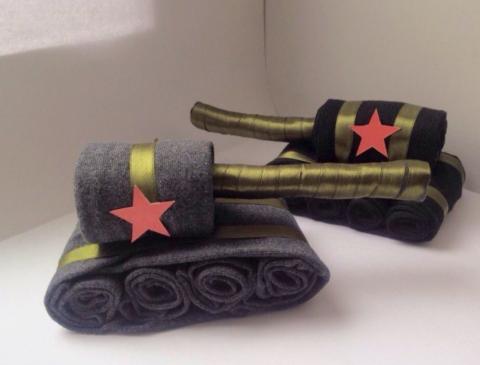 Простой вариант носочного танка