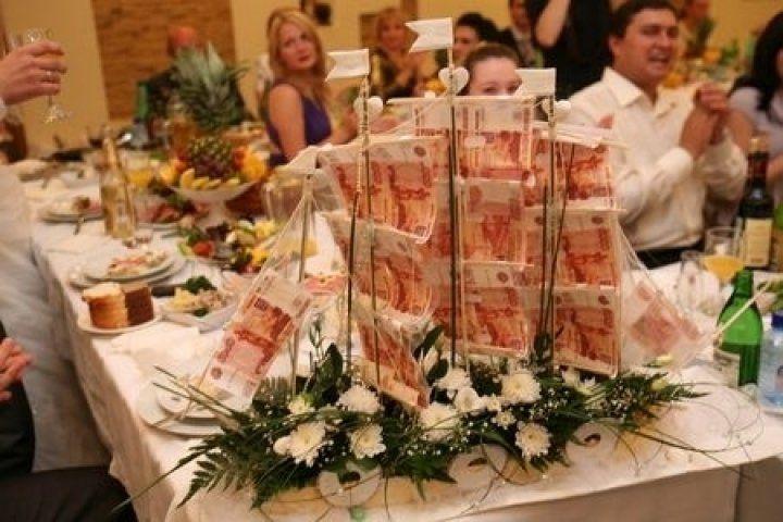 Денежный свадебный подарок