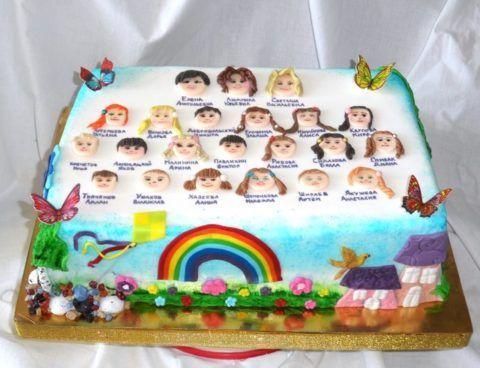 Торт выпускникам детского сада.