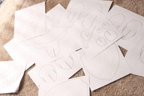 Бумажные эскизы