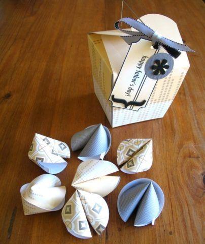 Бумажные печенья с пожеланиями