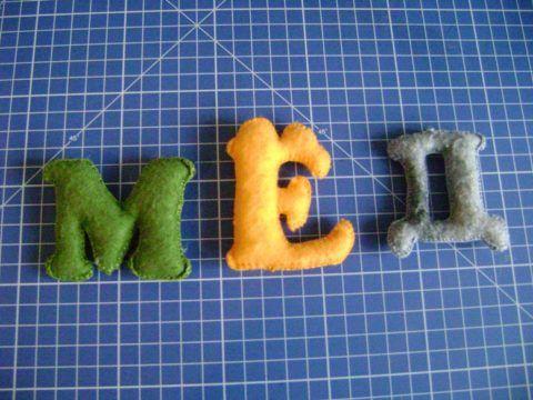 Различные буквы из фетра.