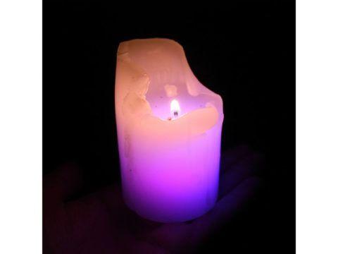 Свеча с ледовской подсветкой