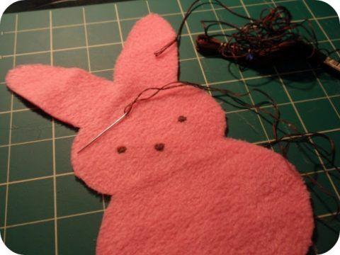 Вышиваем мордочку.