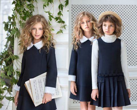 Элегантное и скромное платье для походов в школу
