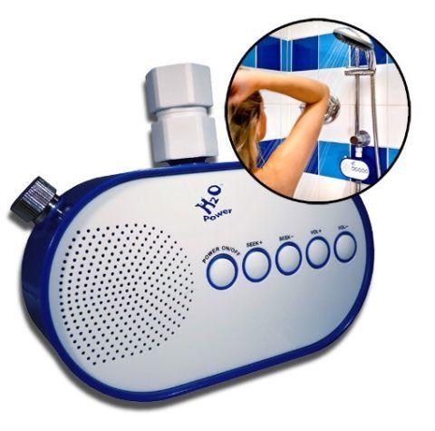 Оригинальное радио для ванной комнаты.
