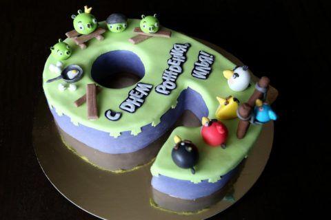Прикольный торт – Angry Birds