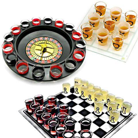 Знакомые каждому игры, только с выпивкой.