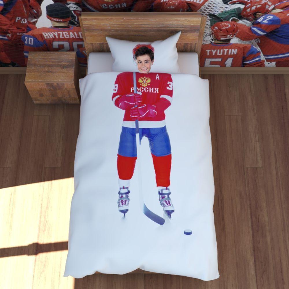 Постельное белье для настоящего хоккеиста!