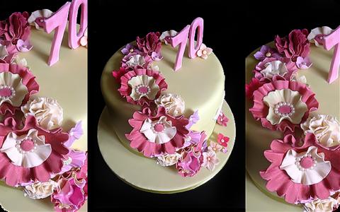 Вариант тортика на 70-летие