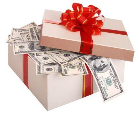 Дарим деньги на любые праздники.