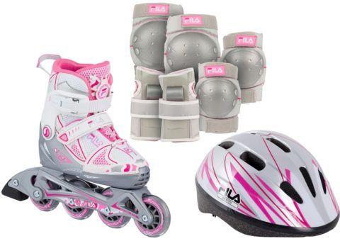 К роликовым конькам обязательно должна идти защита, потому что ваша девочка наверняка будет много и часто падать.