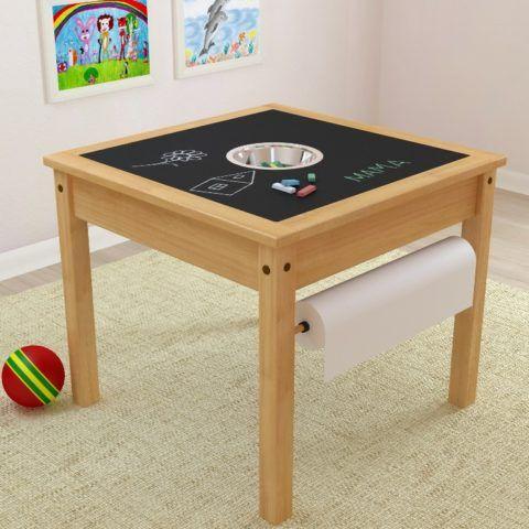 Невероятно удобный и полезный стол для рисования с отделением для мелков и чистыми салфетками.