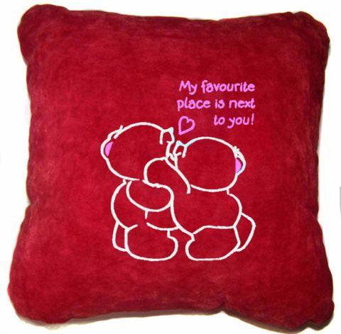 Ну очень нежная и милая подушка для любимого человека!