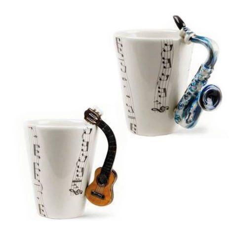 Очень милые кружки для человека, увлекающегося музыкой.