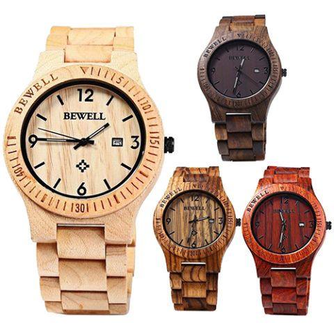 Почему бы и не подарить стильные деревянные часы?