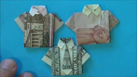 Рубашка – самый часто встречающийся вариант оригами.