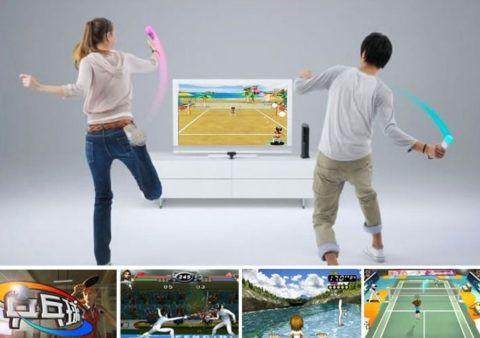 В интерактивный теннис наверняка захотят сыграть и взрослые.