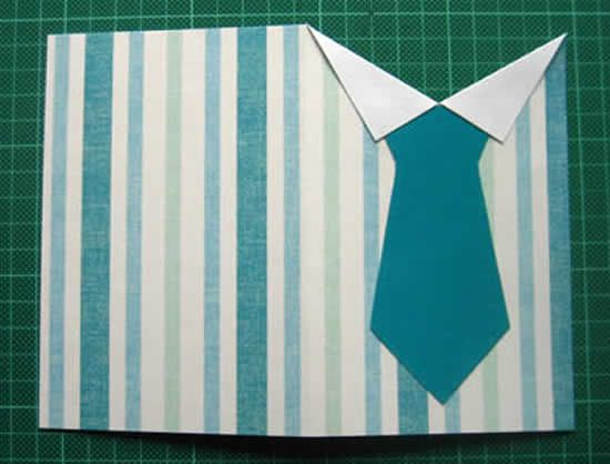 Для дизайнеру, открытка на день рождения своими руками из бумаги рубашка с галстуком