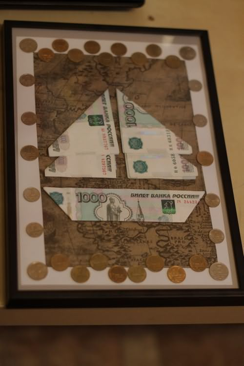 хранится оригинальная денежная открытка нет самим скреплением