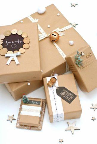 Необычные и стильные варианты упаковки презента на любой праздник.