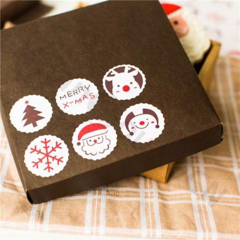Очень стильные и новогодние наклейки!