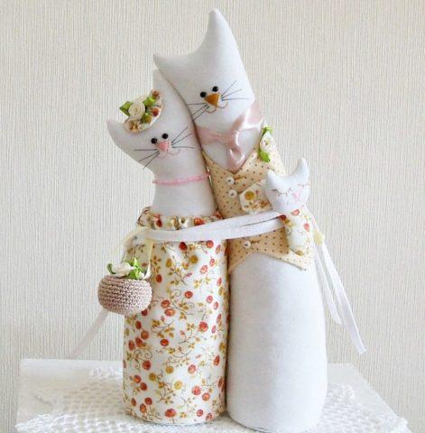 Очень милые тканевые котики!